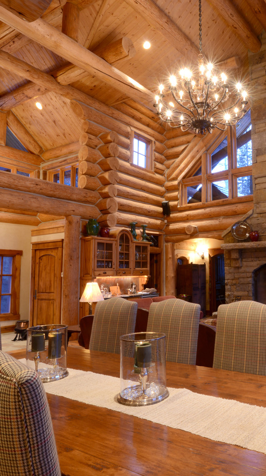 Rustic home design inspiration for Log home interior designs