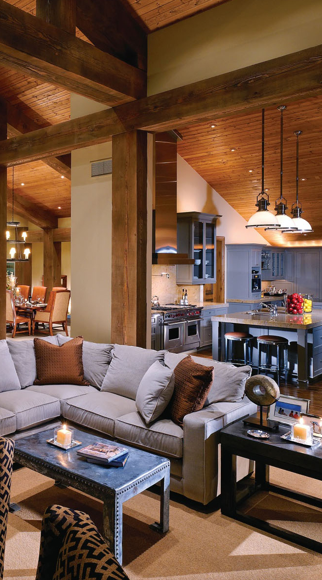 Rustic home design inspiration for Rustic great room