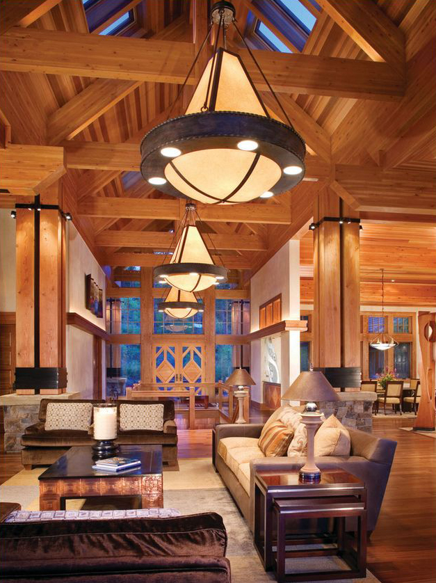 Rustic design ideas canadian log homes Rustic modern living room design