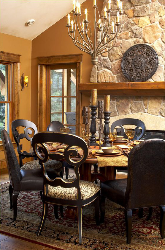 Gabberts Rustic Traditional Dining Room
