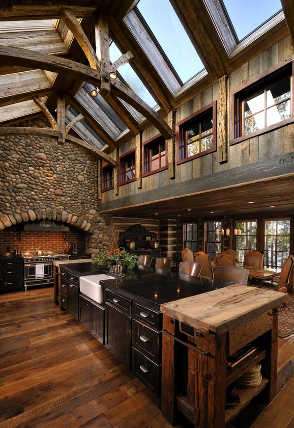 lake country builders - Log Homes Interior Designs