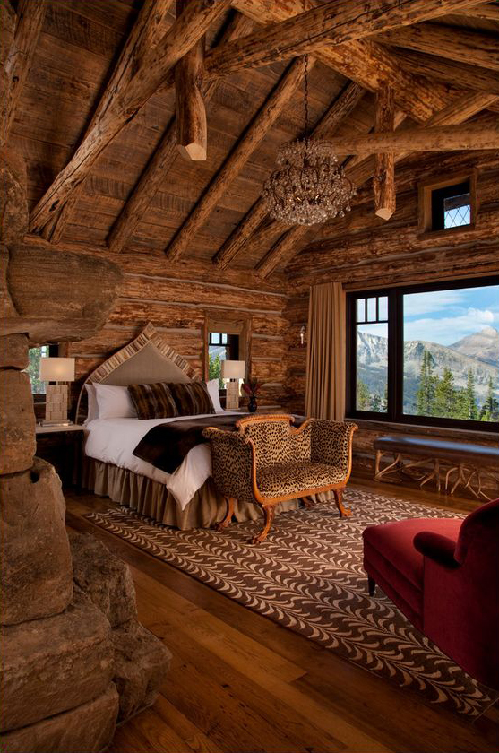 Rustic design ideas canadian log homes for Lodge plans with 8 bedrooms