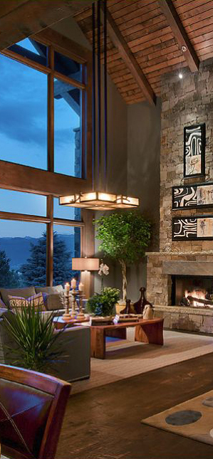 terrific living room colors | Rustic Design Ideas - Canadian Log Homes