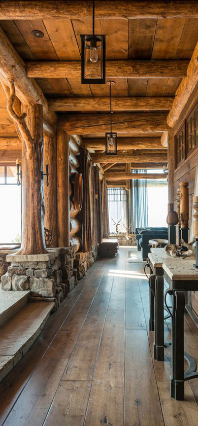Log Home Foyer : Western style wohnzimmer wild pinterest