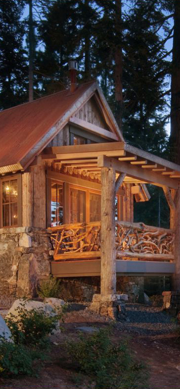 Rustic design ideas canadian log homes for Log home porches
