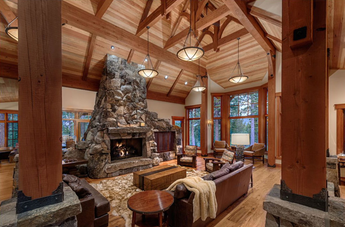 Ward Young Rustic Family Room