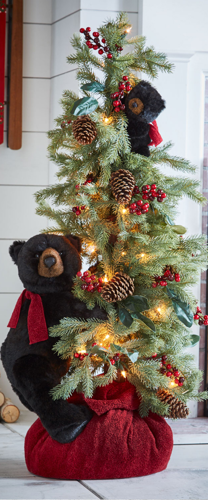 Christmas Tree with Bear