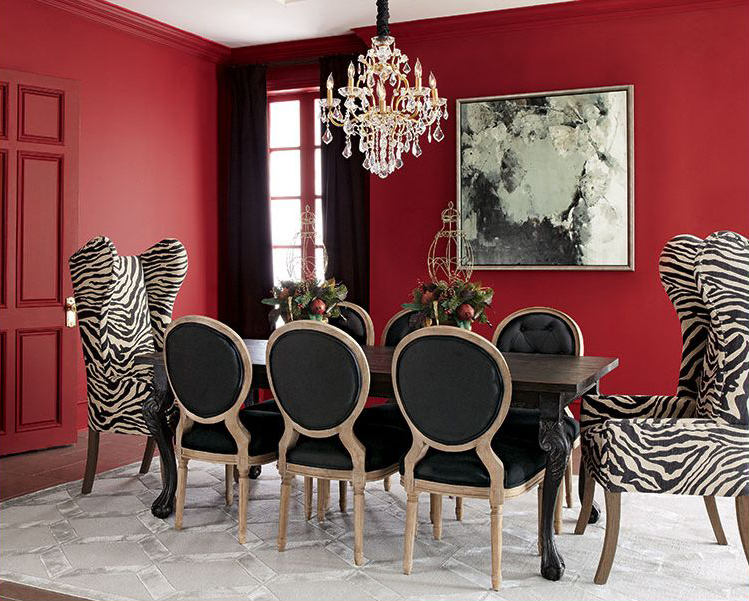 Black White Dining Room Design