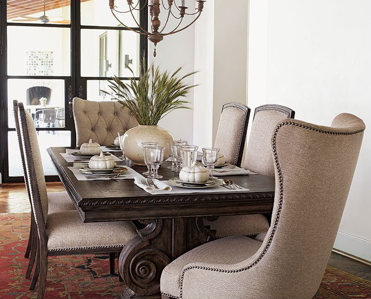 dining room sets with fabric chairs. Donabella Dining Room Ideas  Design Inpiration