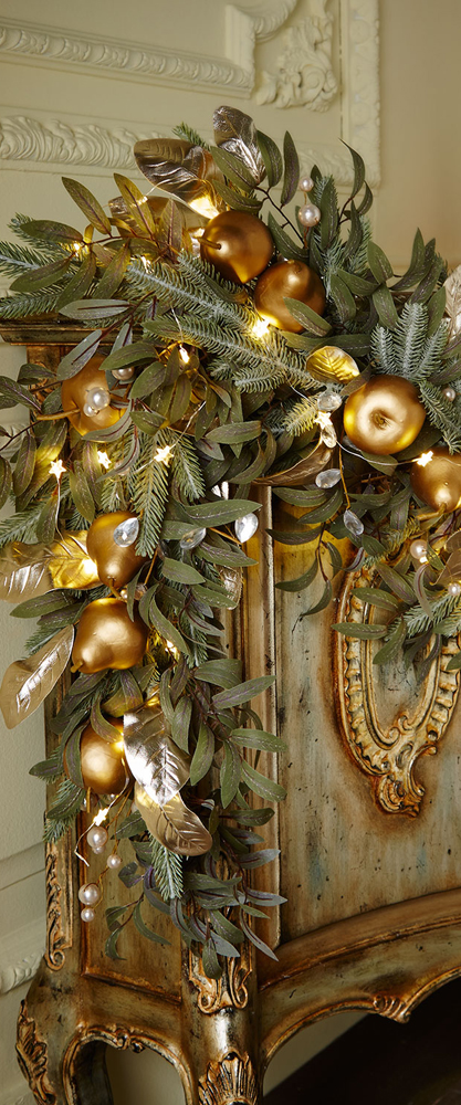 Frosted Gold Garland