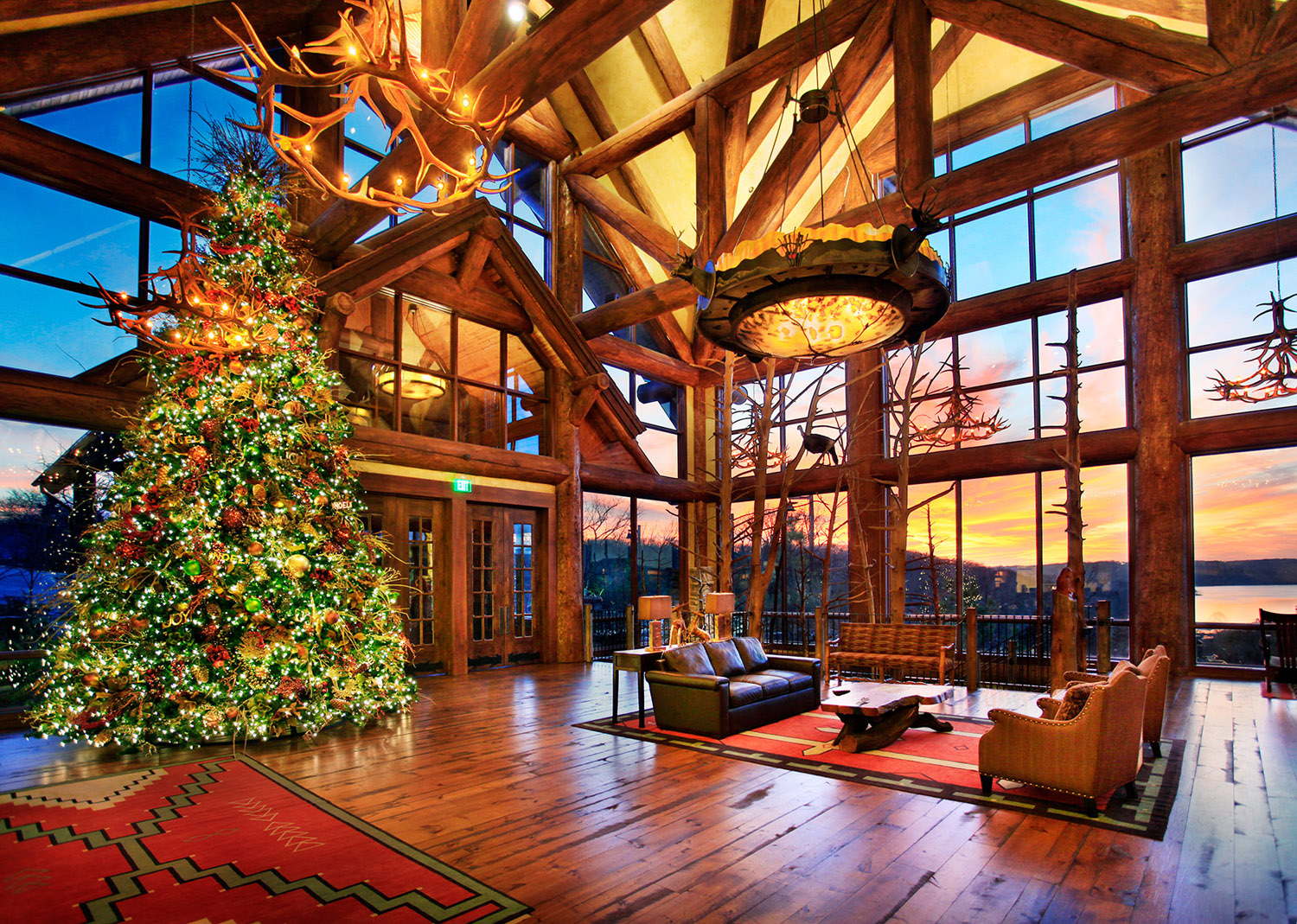 Rustic Log Home Christmas