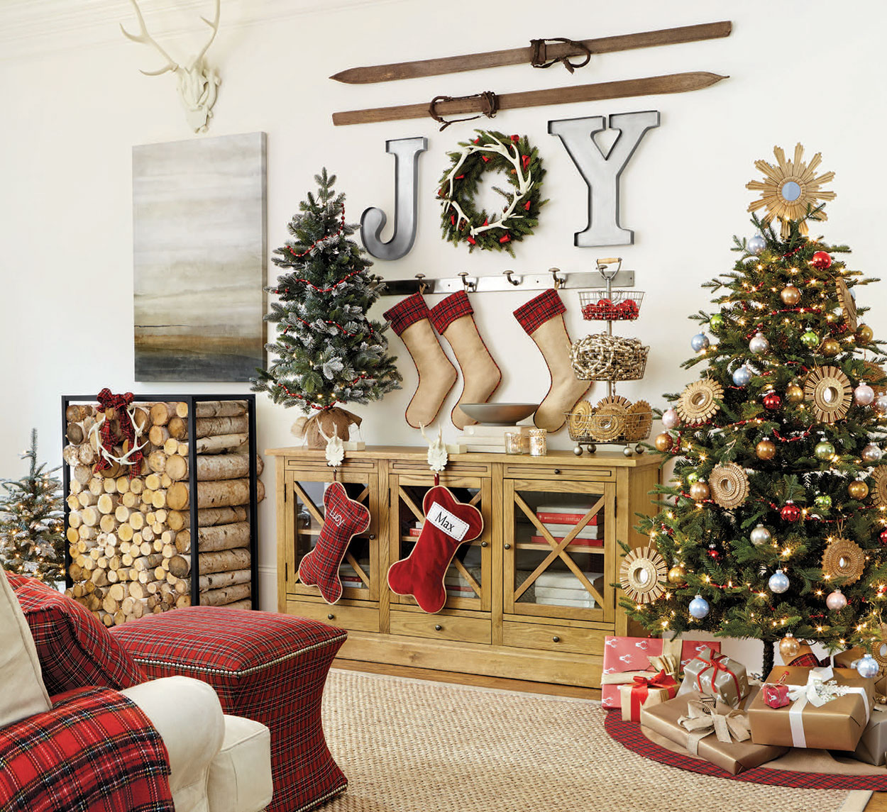 Home Design Ideas For Christmas: Rustic Christmas Decorating Ideas