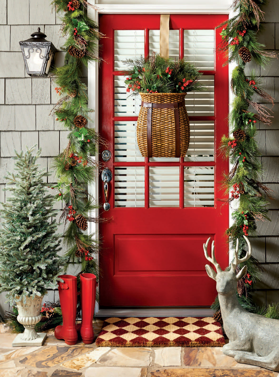 Rustic christmas decorating ideas canadian log homes for Decorating blogs canada