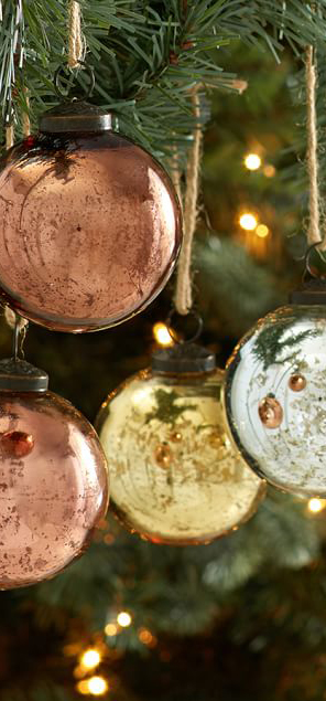 Natural Rustic Tone Ball Ornaments