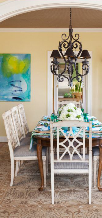 Tobi Fairley Interior Design Traditional Dining Room