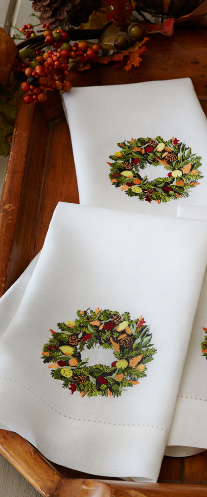 Wreath Guest Towels