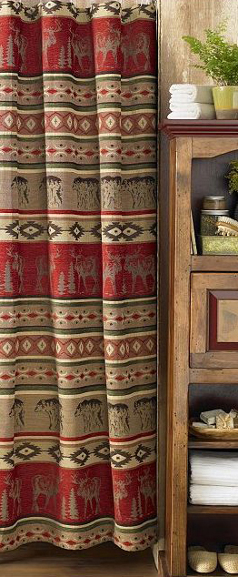 Rustic Decor | Adirondack Shower Curtains