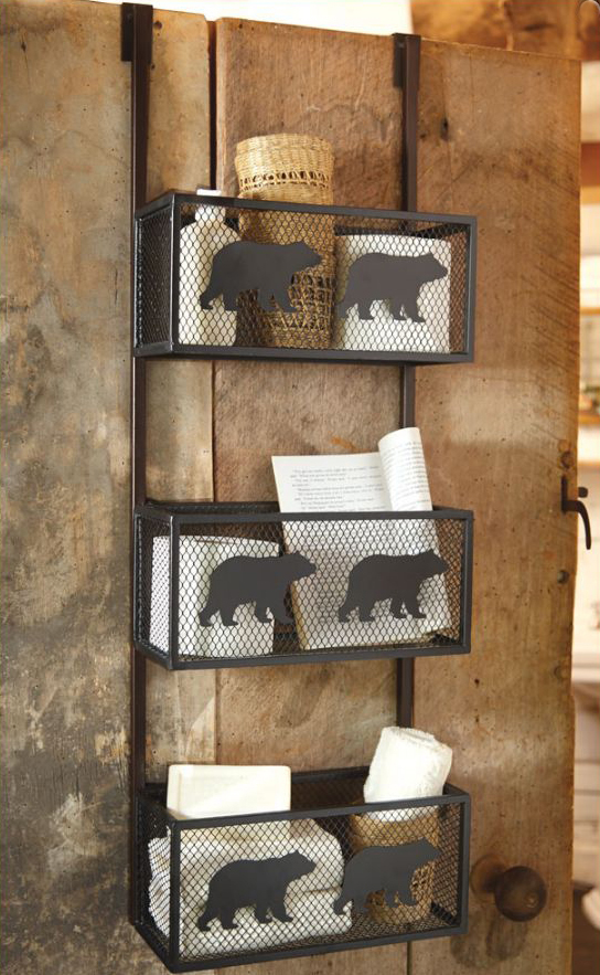 Bear Bathroom Door Shelf