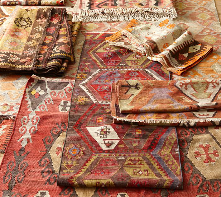 PB Found Vintage Kilim rugs