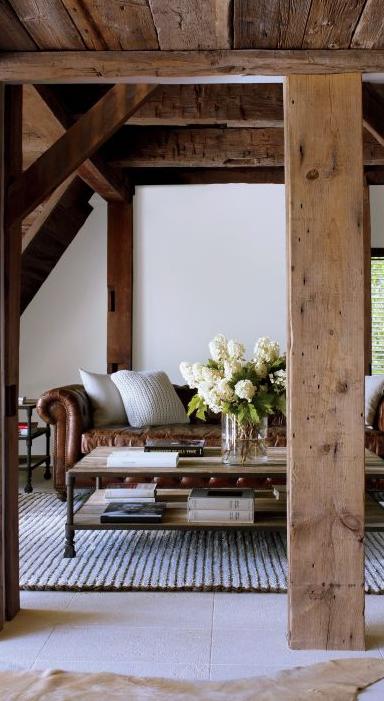 Rustic Living Room | Bonetti Kozerski Studio