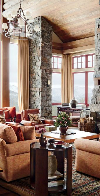 Rustic Living Room And Cabin Decor| Michael S Smith ...
