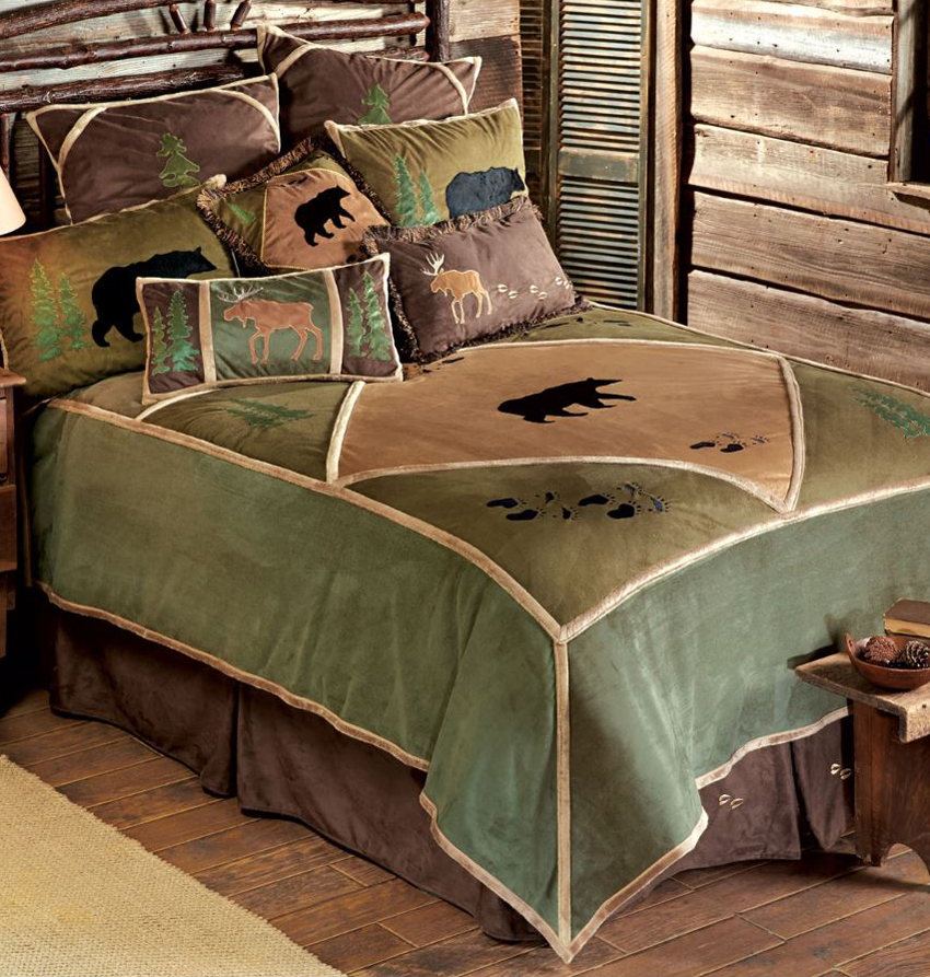 Rustic home decor bedding for Moose decorations home