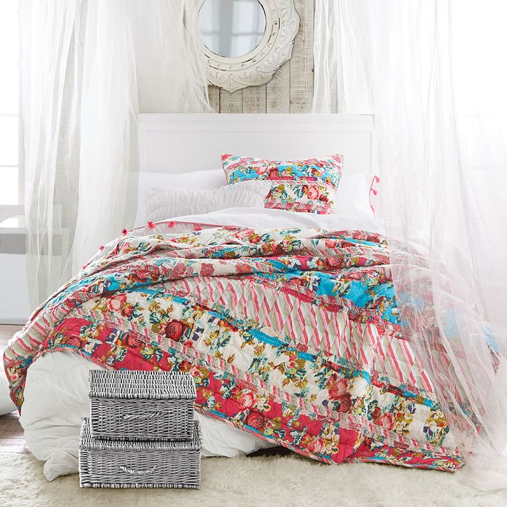 Floral Ribbons Teen Girl Bedding