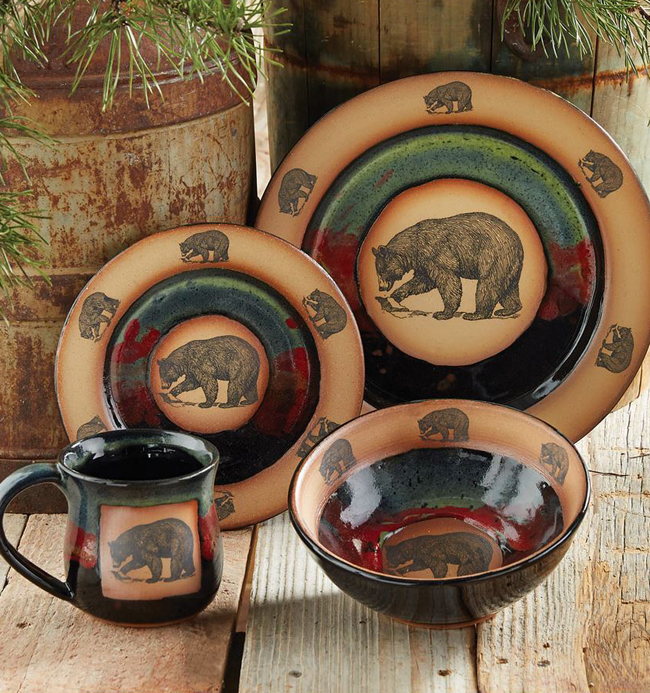 Rustic decor fall collection for Bear home decorations