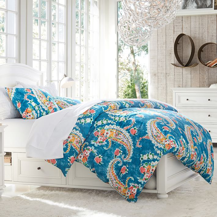 Paisley Blossoms Girls Duvet Cover