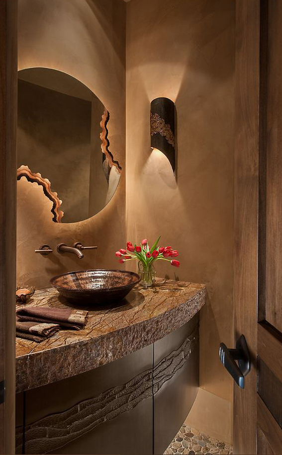 Western Design Powder Room