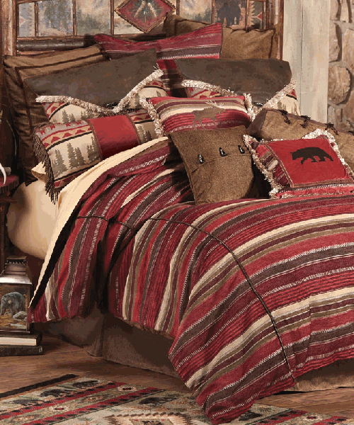Boulder Creek Log Cabin Bedding