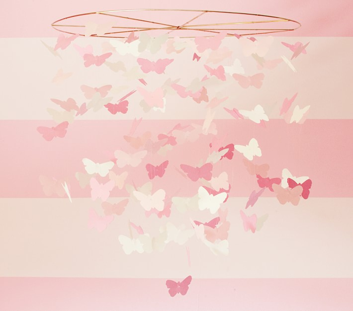 Pink Butterfly Mobile