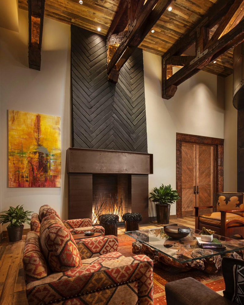 Southwestern style living room