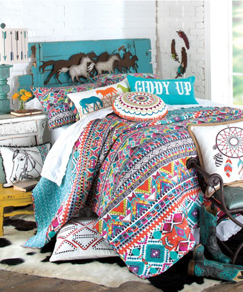 giddy up cowgirl theme bedroom set
