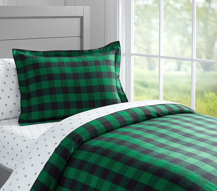 Buffalo Plaid Comforter Bed Linen Astounding Purple