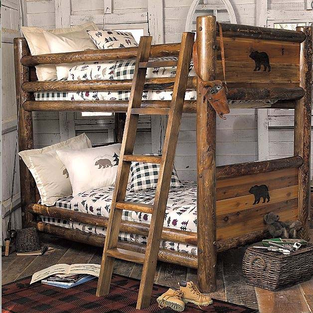 Log Bunk Beds