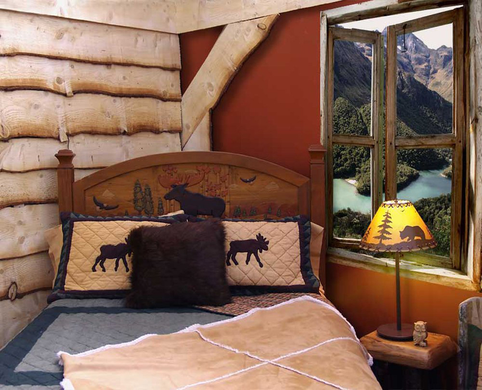 Kids cabin theme bedrooms rustic decor for Decorating my bedroom ideas