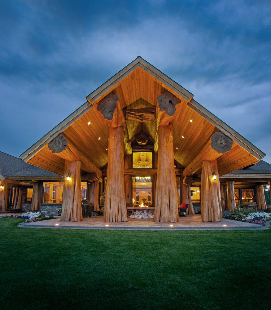 Pioneer log homes log cabins the timber kings for Home designs bc