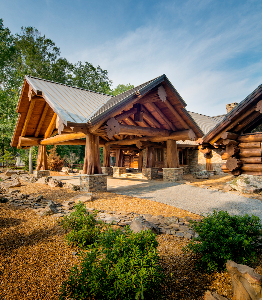 Pioneer log homes log cabins the timber kings for Large cabin kits