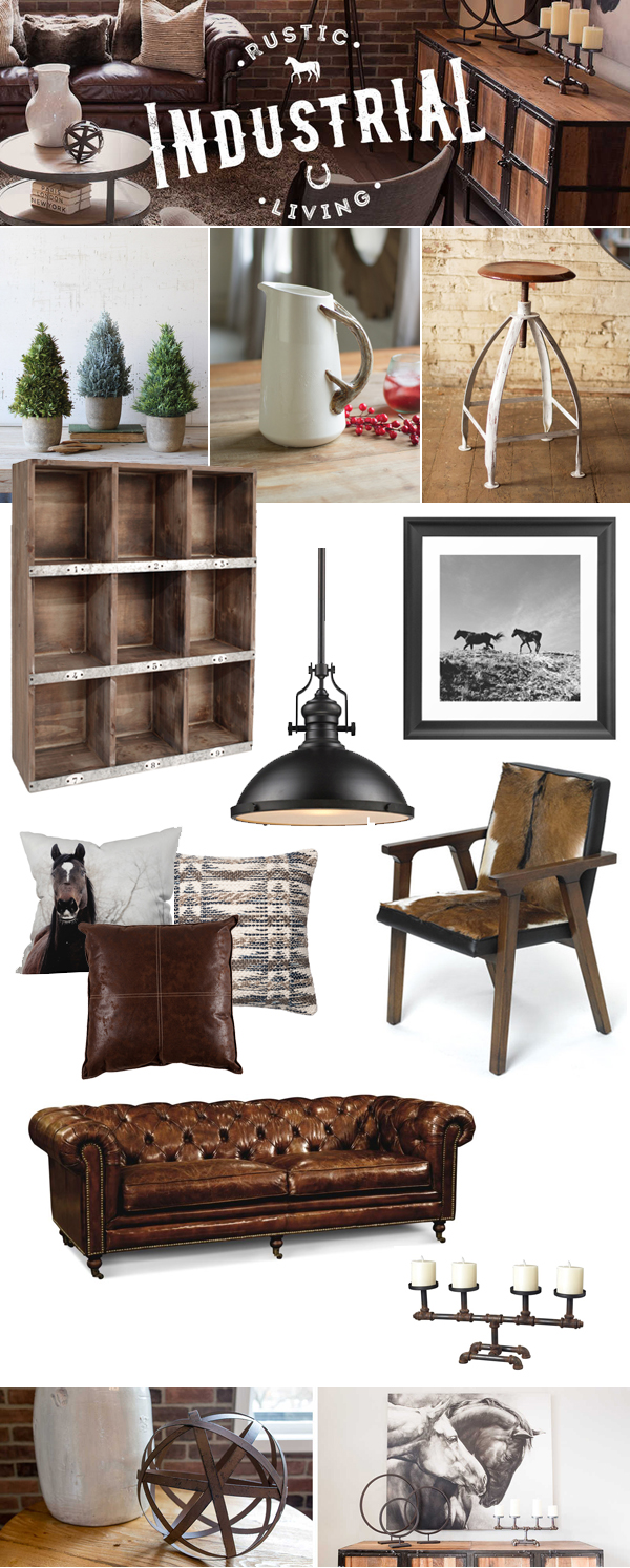 Prepossessing 20 rustic industrial inspiration design of rustic industrial decor house design Urban home furniture online