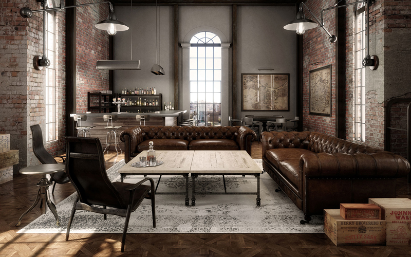 Rustic Industrial Apartment Food Home Decor Vintage Design