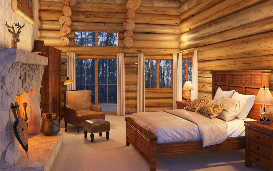 Rustic bedding sets lodge log cabin bedding for Log cabin furniture canada
