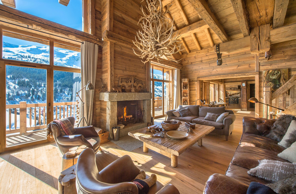 rustic design ideas lodge great room - Cabin Interior Design Photos
